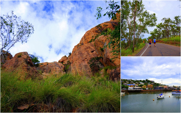 Climbing Castle Hill in Townsville, Queensland.