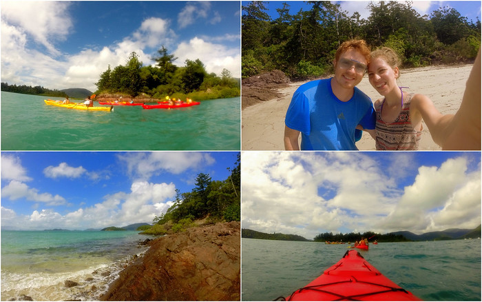 Sea kayaking in the Whitsunday Islands