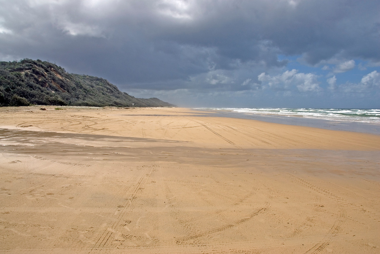 Storm Clouds and Beach 2, Fraser Island - Queensland, Australia