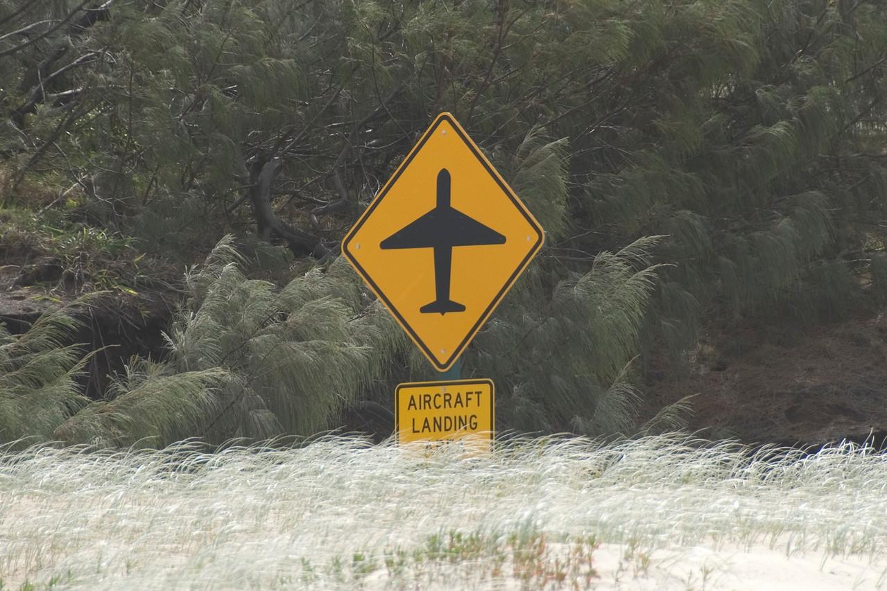 Aircraft Landing Sign, Fraser Island - Queensland, Australia