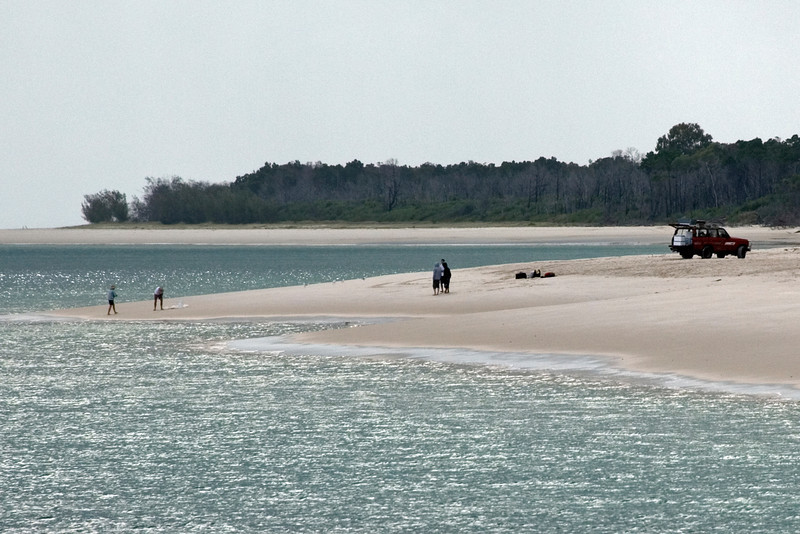 4x4 on Beach 2, Fraser Island - Queensland, Australia