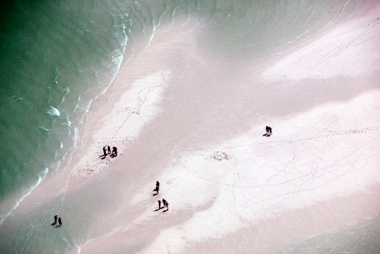 People on Beach, Whitsunday Islands - Queensland, Australia