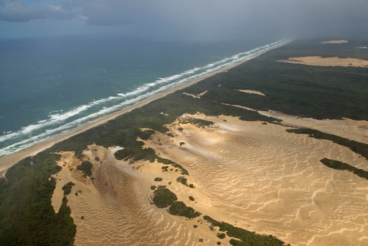 Dunes and Beach, Fraser Island - Queensland, Australia