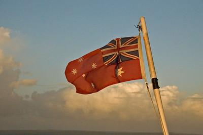 Aussie Boat Flag, Fraser Island - Queensland, Australia
