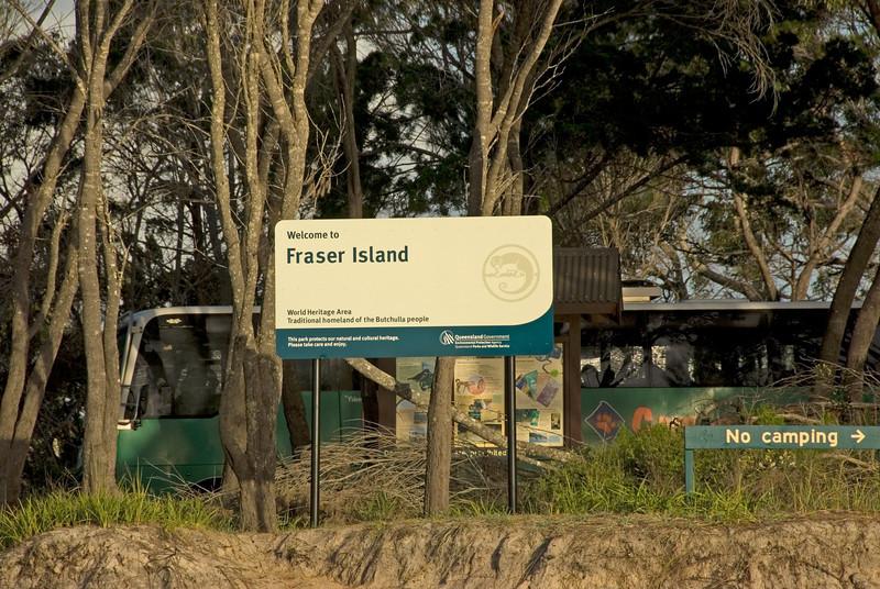 Sign, Fraser Island - Queensland, Australia