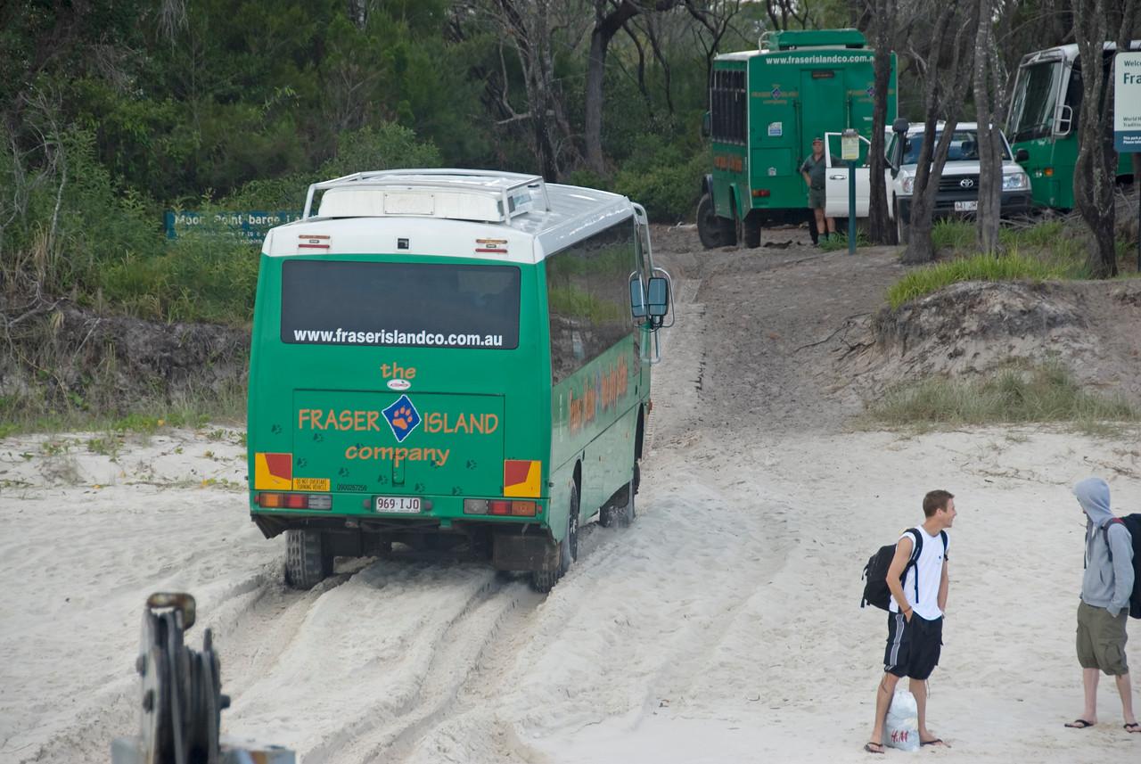 Bus in Sand, Fraser Island - Queensland, Australia
