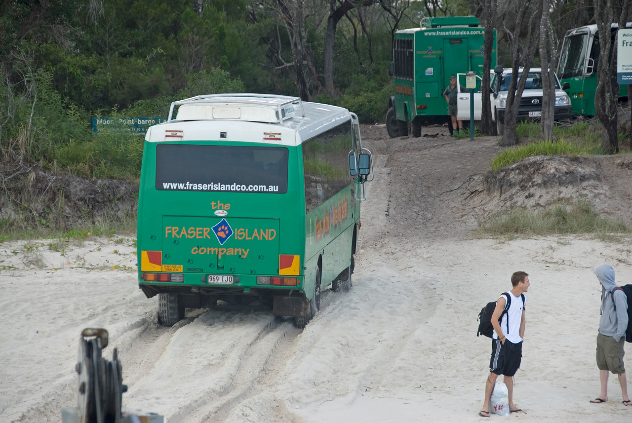 Bus in Sand, Fraser Island - Queensland, Australia
