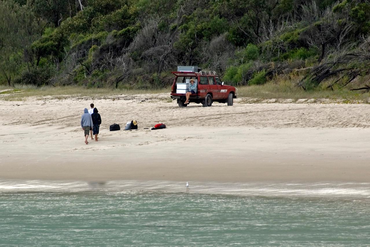 4x4 on Beach, Fraser Island - Queensland, Australia
