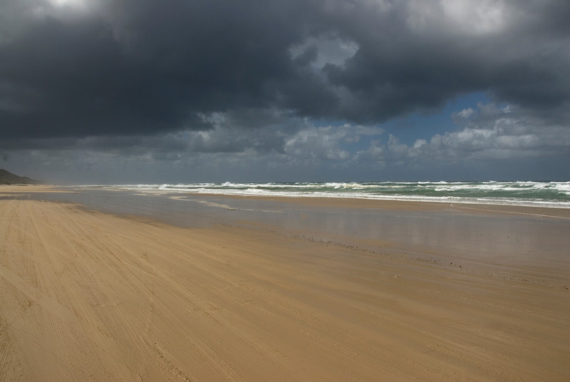 Beach and Storm Clouds, Fraser Island - Queensland, Australia