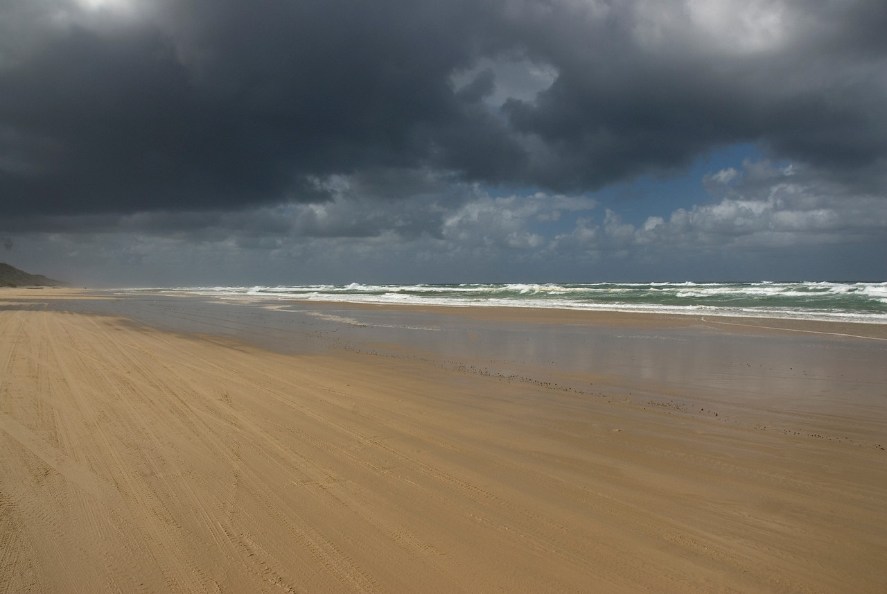 Beach and Storm Clouds, Fraser Island - Queensland, Australia