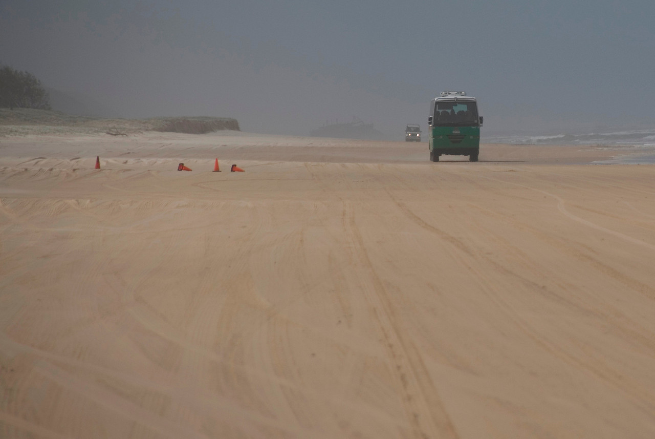 Driving in the sand - Queensland, Australia