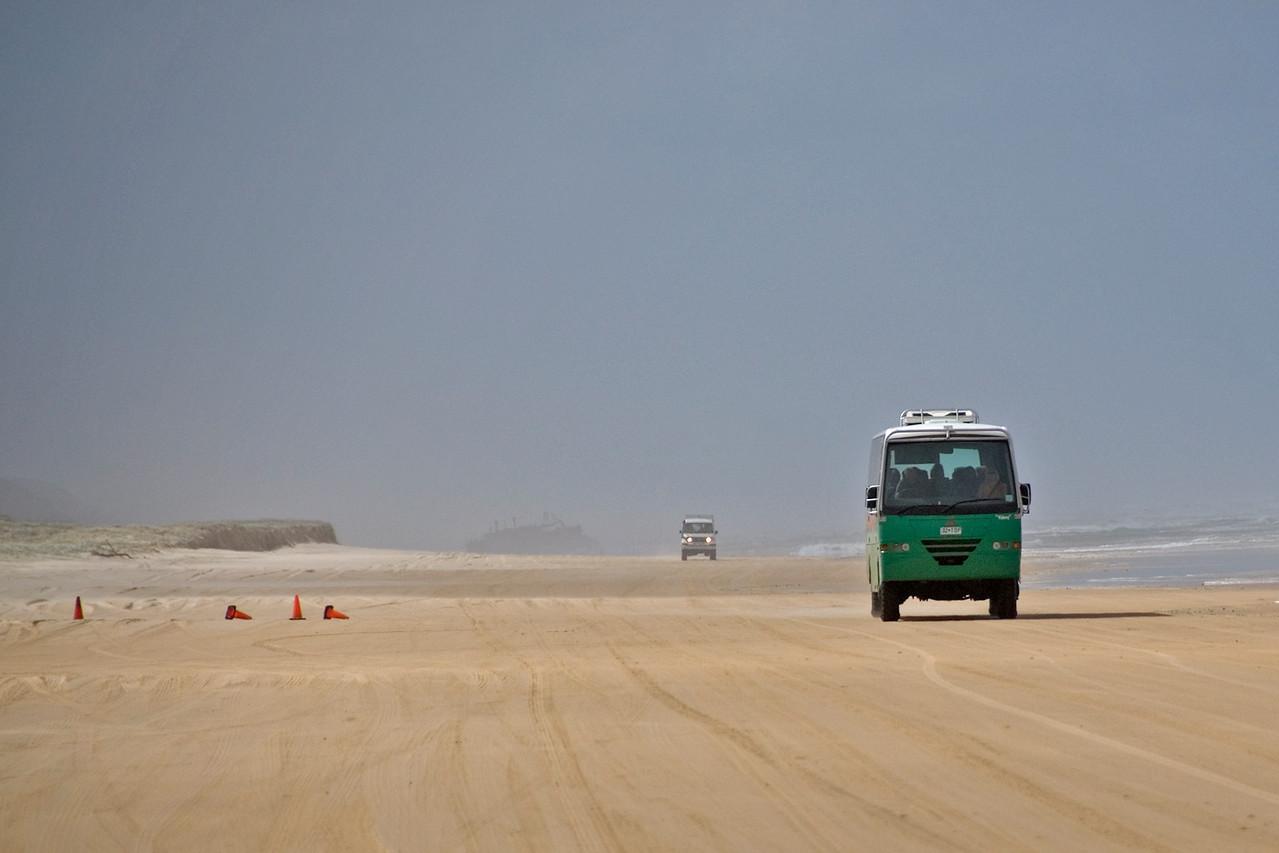 Bus on Beach 2, Fraser Island - Queensland, Australia.jpg