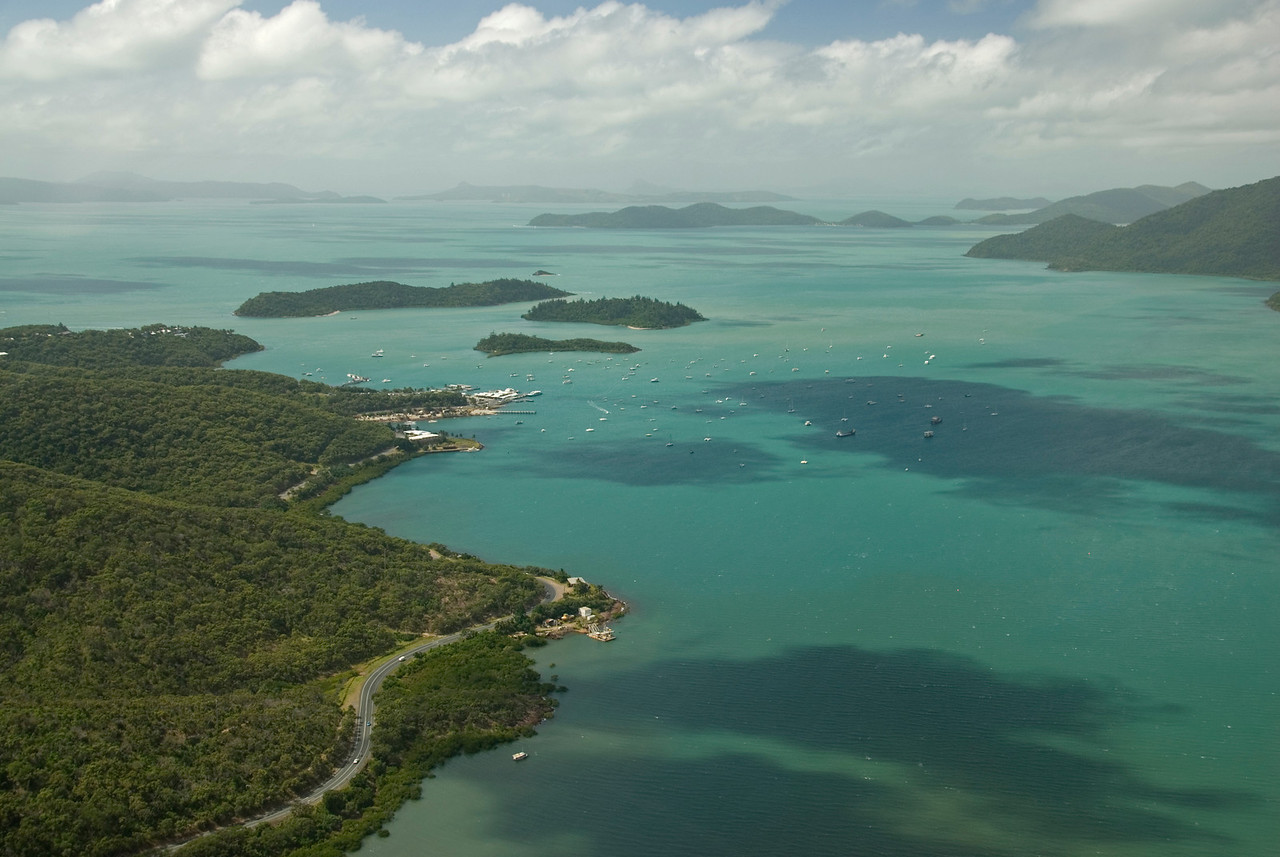 Shute Harbor Aerial, WhitSunday Islands - Queensland, Australia