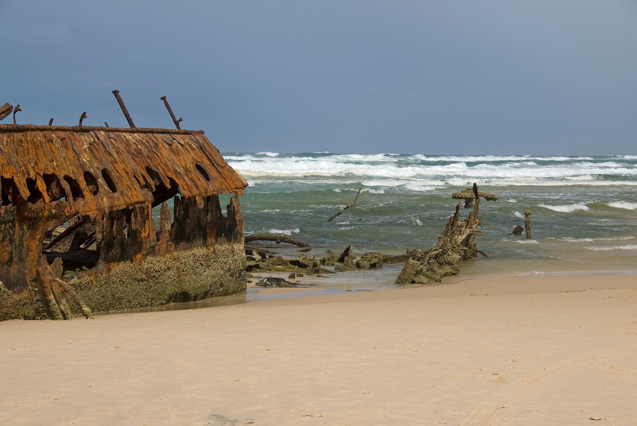 Bow of Shipwreck, Fraser Island - Queensland, Australia