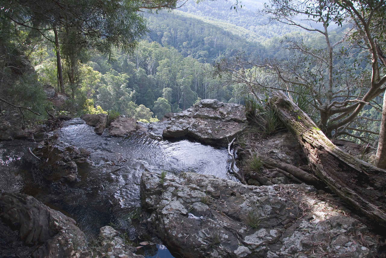 Top of Waterfall 4, Springbrook National Park - Queensland, Australia
