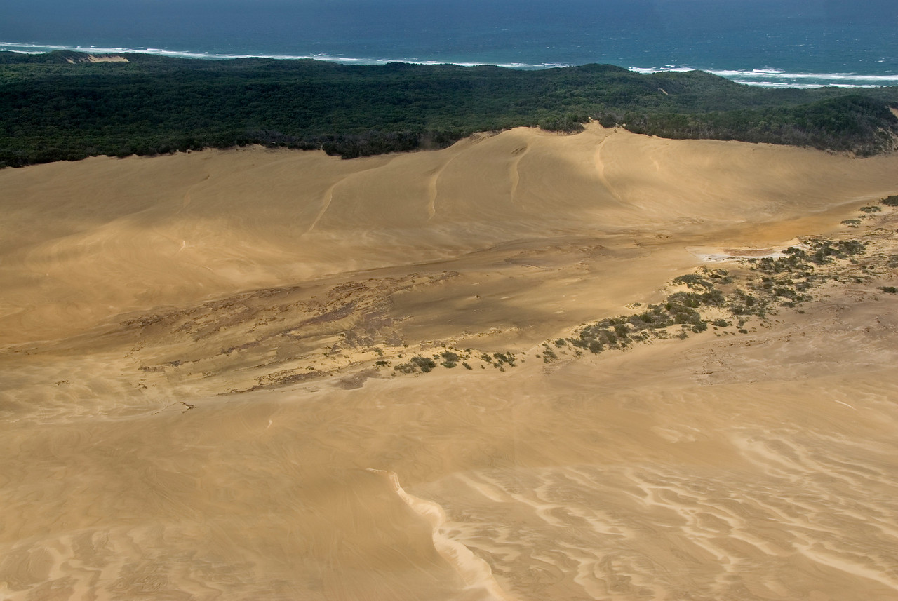 Sand Dunes from Air, Fraser Island - Queensland, Australia