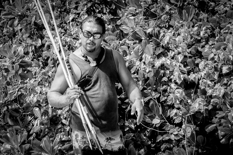 Demonstration of Aboriginal hunting in Australian on a G Adventures trip