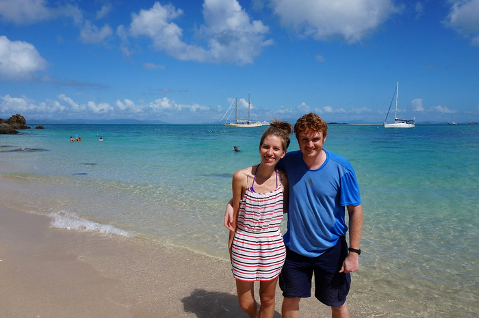 Audrey and Sam in the Whitsundays.