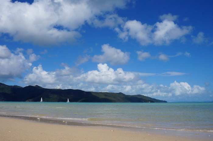 The crystal clear waters of Langford Reef in the Whitsunday Islands.