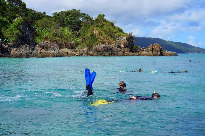 Snorkelling in Bali Hai.