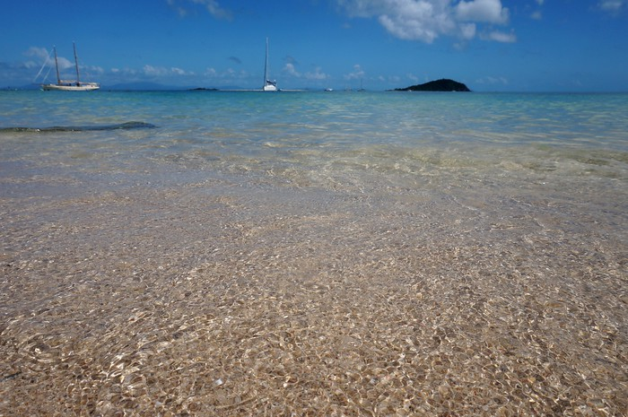 The crystal clear water of the Whitsunday Islands, Queensland, Australia.