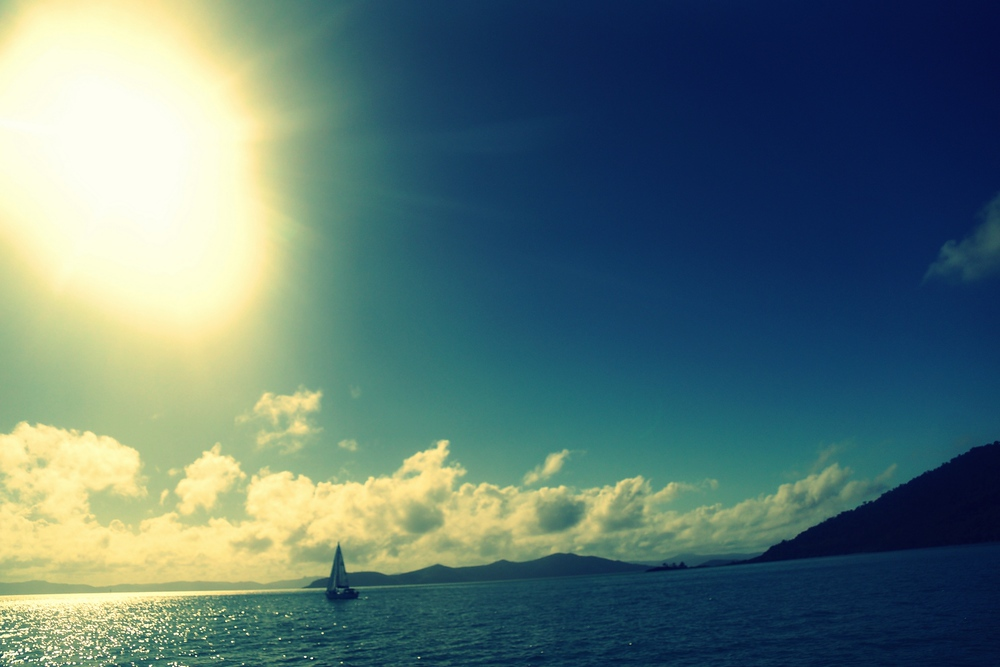 We honestly couldn't have asked for better weather conditions to go sailing.