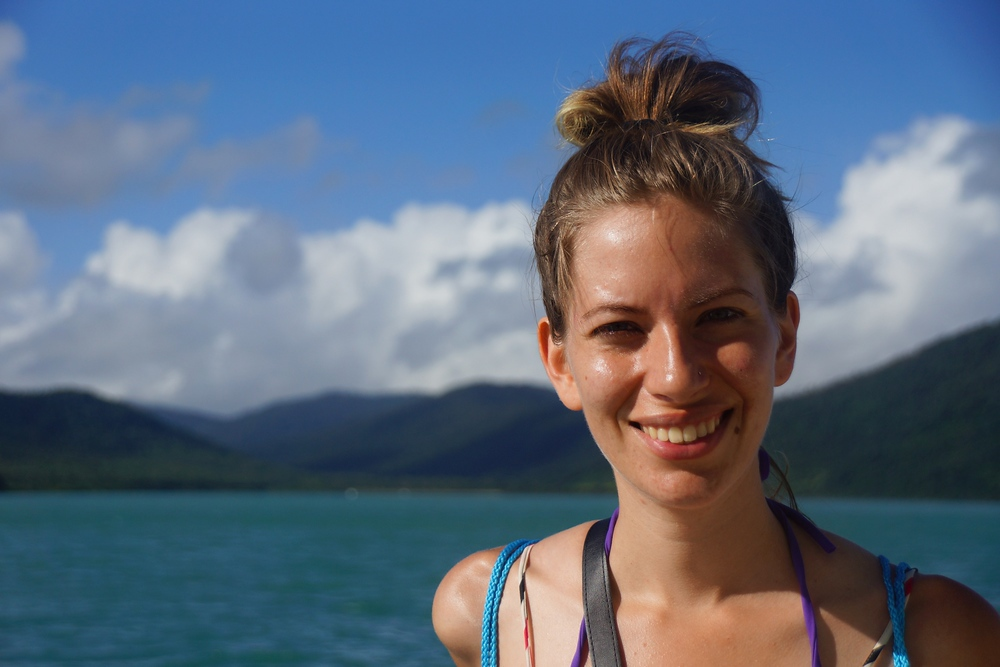 Audrey's smile says it all as we had to pinch ourselves realizing we were actually getting to see the Whitsunday Islands of the Great Barrier Reef with our own two eyes.
