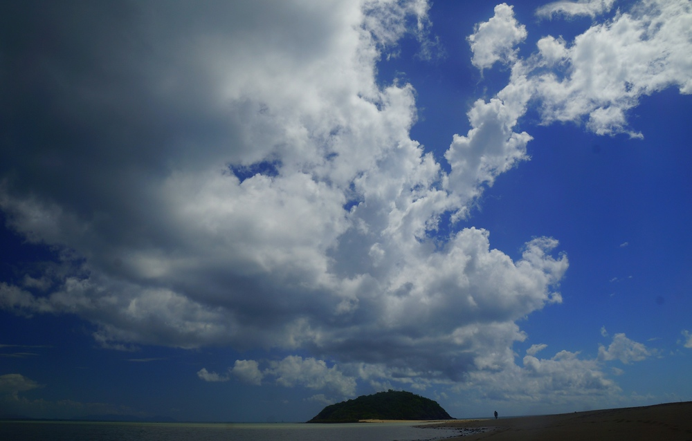 This is a shot from the second beach we visited where nearly had this who stretch of sand to ourselves.