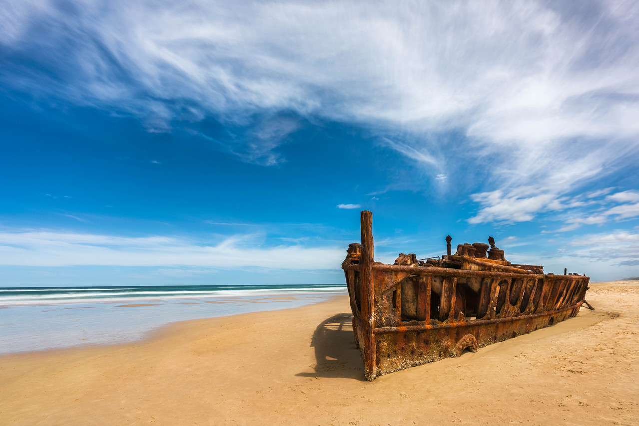The Maheno Wreck on Fraser Island