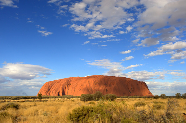 Ayers Rock in the Australian Outback - in the Heart of the Red Centre