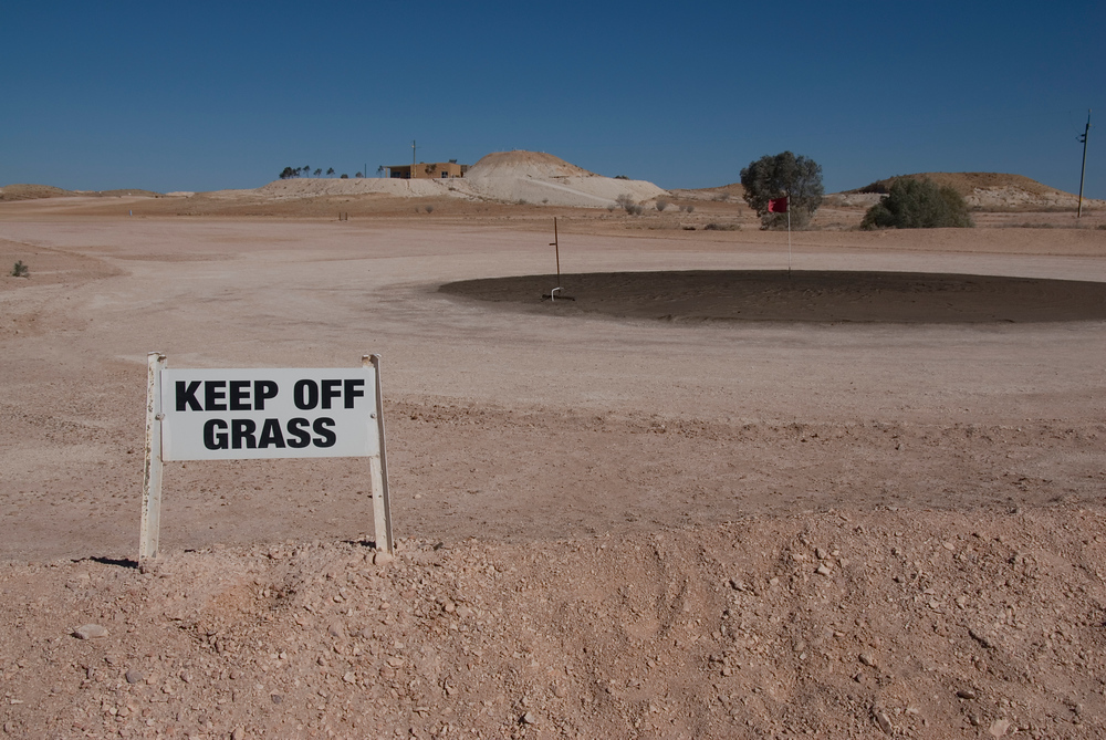 The easiest sign in the world to follow, Coober Pedy, South Australia