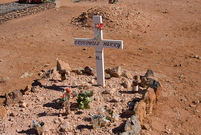 Crcodile Harry Grave - Coober Pedy, South Australia