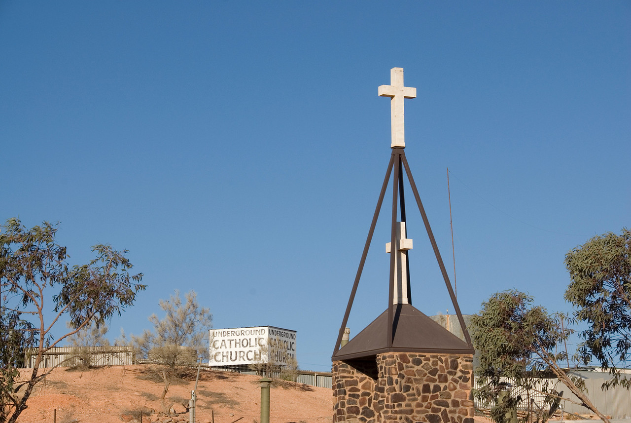 Underground Catholic Church Outside - Coober Pedy, South Australia