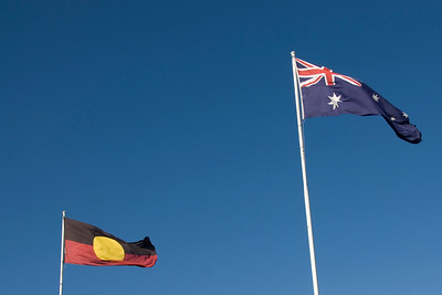 Aboriginal and Australian Flag - Adelaide, South Australia