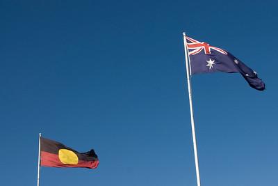 Aboriginal and Australian Flag - Adelaide, South Australia