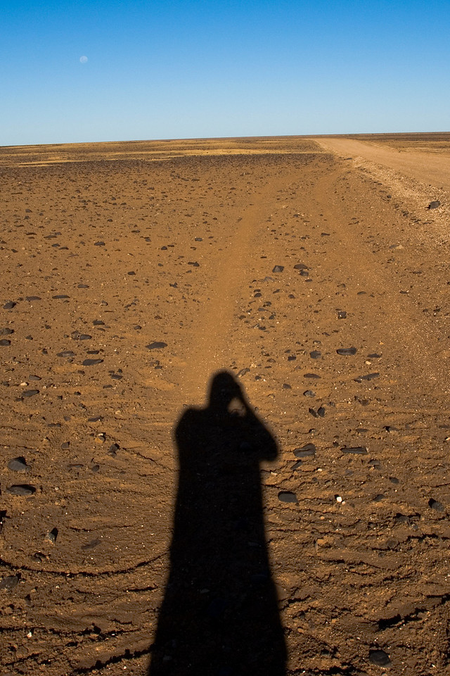 Self Portrait on Moon Plain, Breakaways  - Coober Pedy, South Australia