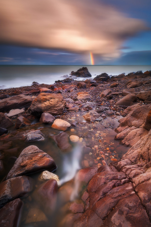 Storms brought life to a local seaside waterfall trickling into the sea