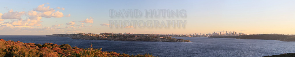 Sunset Sydney View Panoramic<br /> (from North Head)