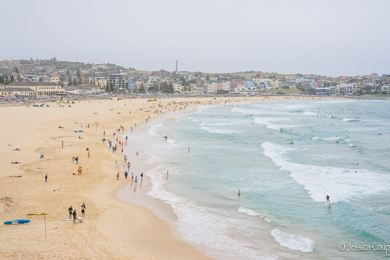 Crowds at Bondi Beach