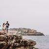 Finding a Spot Along the Coastal Cliff Walkway
