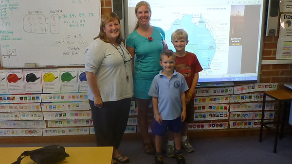 Jackson & Scott Waller with Jackson's teacher in Australia.