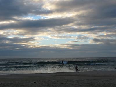 Sunrise surfing