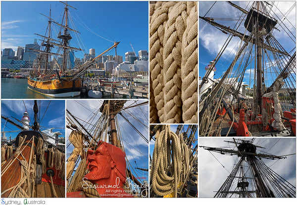 Tall Ship HMB Endeavour, Darling Harbour in Sydney