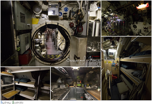 HMAS Onslow, squeezed inside the Submarine