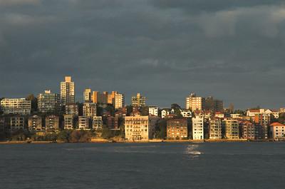 Sydney , across the harbour bridge