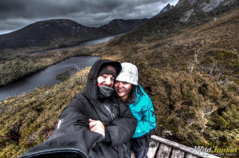 At Cradle Mountain overlooking Dove Lake
