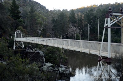 Launceston suspension bridge and chairlift - May 2013