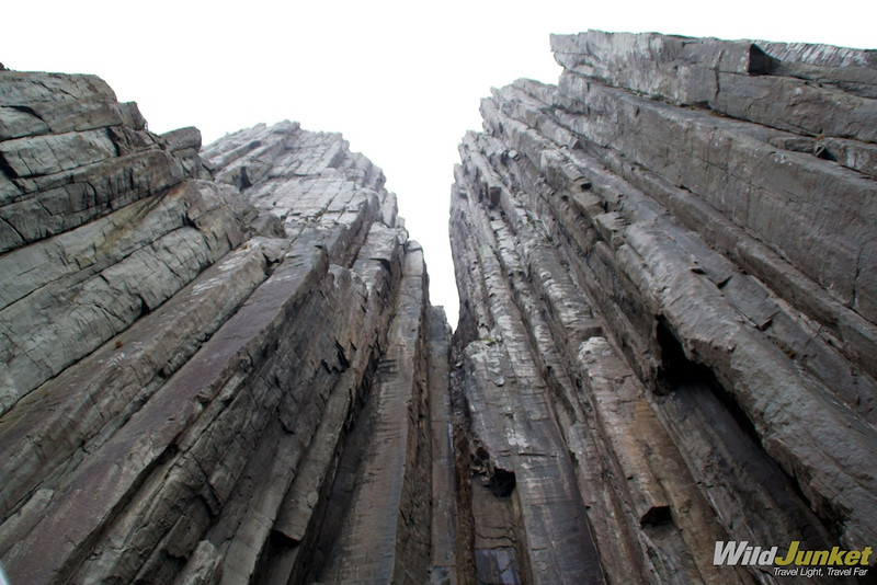 the sheer dolorite rock towers