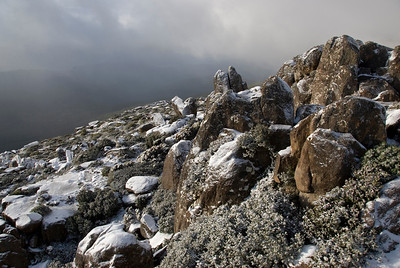 Snowy Rocks on Mount Wellington  2- Tasmania, Australia