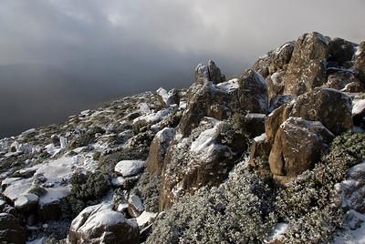 Snowy Rocks on Mount Wellington  2- Tasmania, Australia